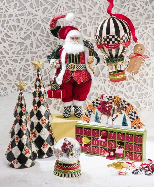 Mackenzie Childs Christmas Ornaments.Mackenzie Childs Olde Time Santa Advent Calendar